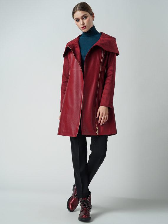 Кожаное пальто эко кожа , цвет бордо, арт. 04005795  - цена 6990 руб.  - магазин TOTOGROUP