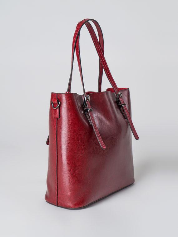 Сумка кожа теленок, цвет бордо, арт. 04005998  - цена 5590 руб.  - магазин TOTOGROUP