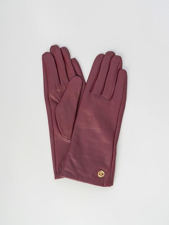 Перчатки кожа , цвет бордо, арт. 04006071  - цена 2170 руб.  - магазин TOTOGROUP