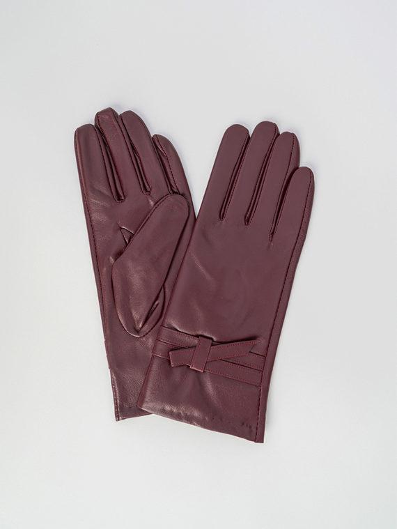 Перчатки кожа , цвет бордо, арт. 04006091  - цена 1410 руб.  - магазин TOTOGROUP