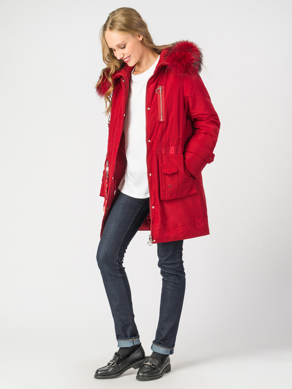Пуховик текстиль, цвет красный, арт. 04006201  - цена 13390 руб.  - магазин TOTOGROUP