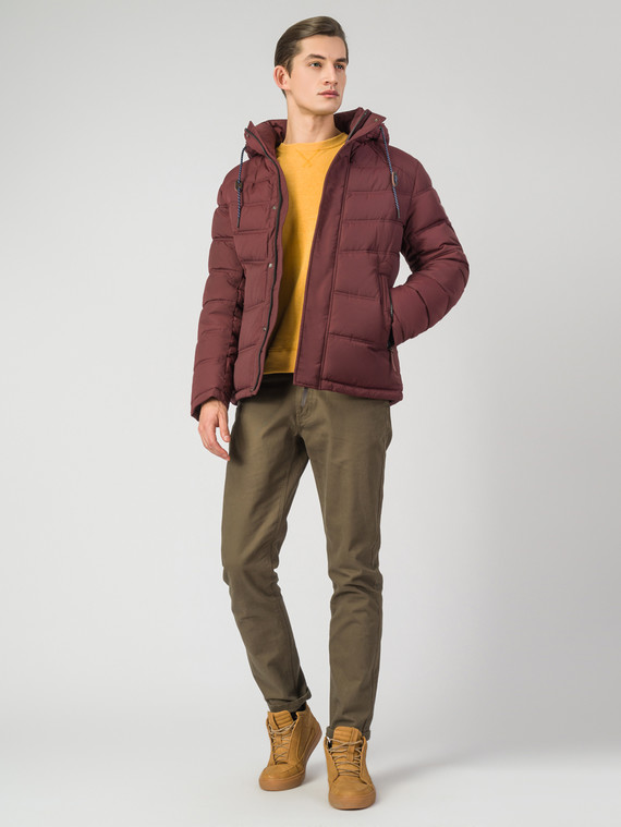 Пуховик текстиль, цвет бордо, арт. 04006344  - цена 7490 руб.  - магазин TOTOGROUP