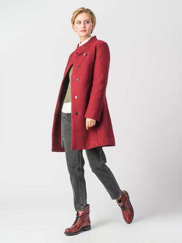 Текстильное пальто 30%шерсть, 70% п\а, цвет красный, арт. 04006607  - цена 7990 руб.  - магазин TOTOGROUP