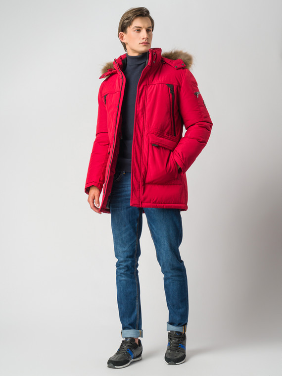 Пуховик текстиль, цвет красный, арт. 04006742  - цена 9990 руб.  - магазин TOTOGROUP