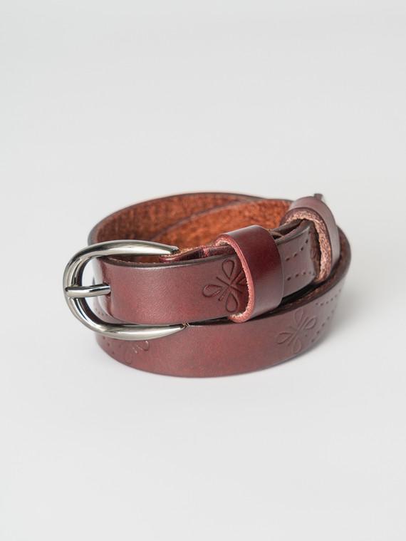Ремень кожа теленок, цвет бордо, арт. 04007250  - цена 990 руб.  - магазин TOTOGROUP