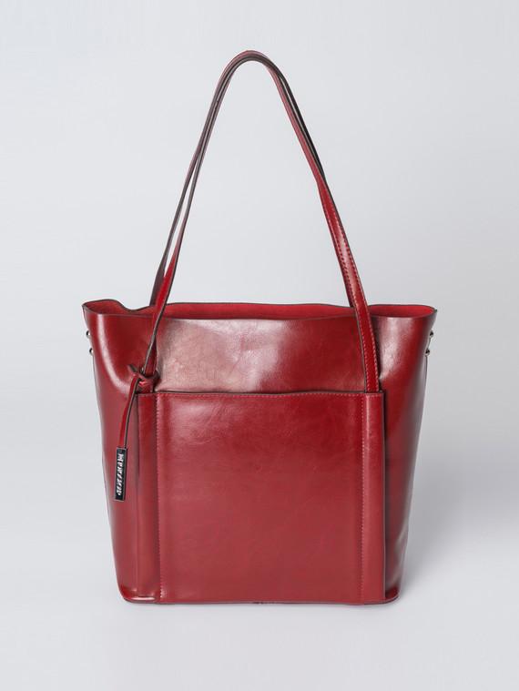 Сумка кожа теленок, цвет бордо, арт. 04007363  - цена 5890 руб.  - магазин TOTOGROUP