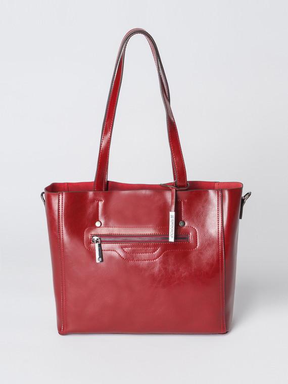 Сумка кожа теленок, цвет бордо, арт. 04007367  - цена 5890 руб.  - магазин TOTOGROUP