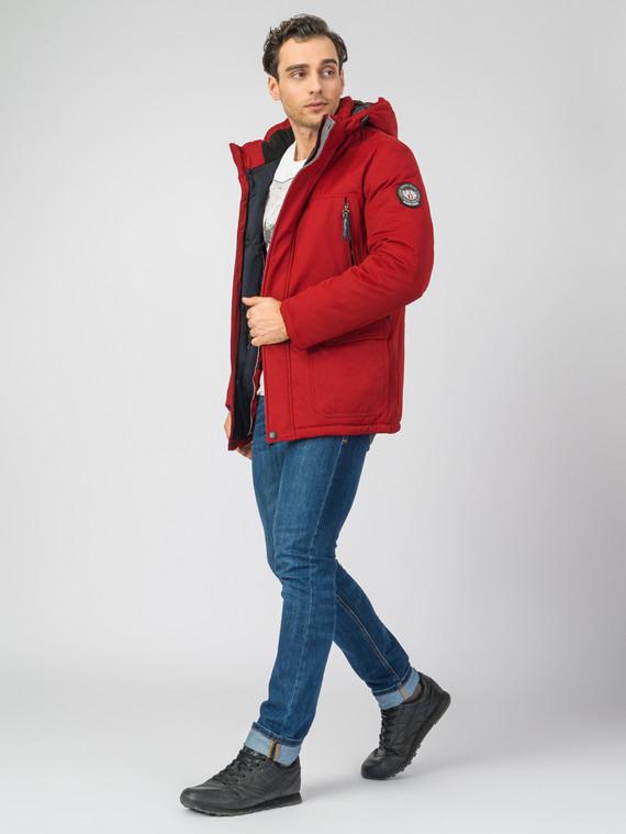 Пуховик 82% п/э. 18% хлопок, цвет красный, арт. 04007456  - цена 9490 руб.  - магазин TOTOGROUP