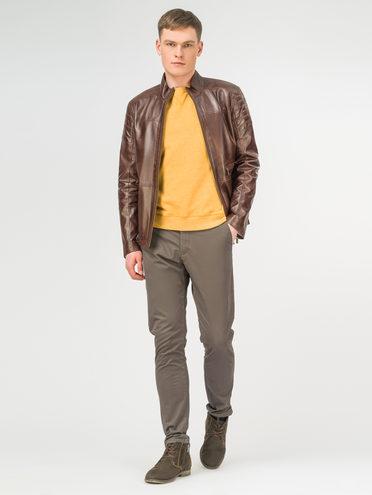 Кожаная куртка кожа , цвет коричневый, арт. 04106184  - цена 11990 руб.  - магазин TOTOGROUP
