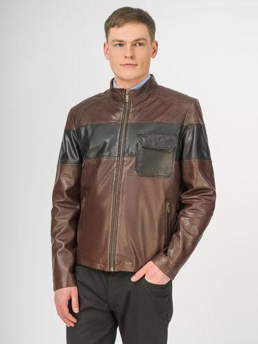 Кожаная куртка кожа , цвет коричневый, арт. 04106199  - цена 10590 руб.  - магазин TOTOGROUP