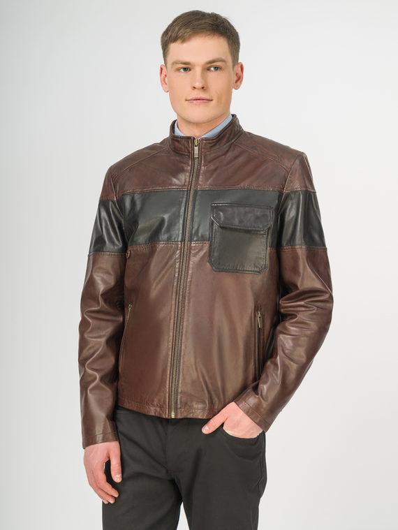 Кожаная куртка кожа, цвет коричневый, арт. 04106199  - цена 7990 руб.  - магазин TOTOGROUP