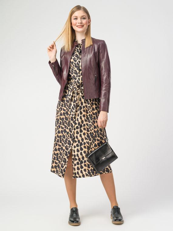 Кожаная куртка кожа , цвет бордо, арт. 04106215  - цена 9990 руб.  - магазин TOTOGROUP