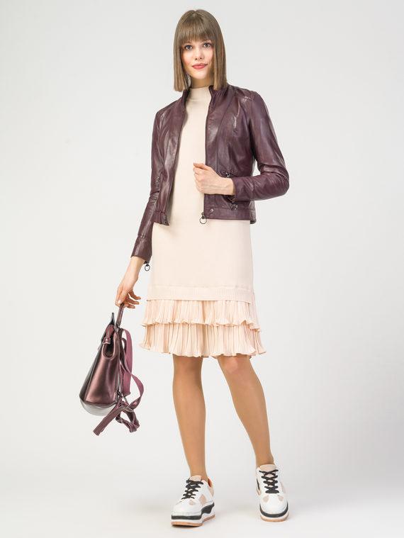 Кожаная куртка кожа , цвет бордо, арт. 04106217  - цена 11990 руб.  - магазин TOTOGROUP