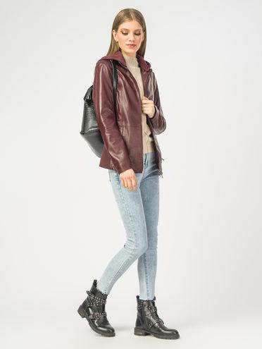 Кожаная куртка кожа , цвет винный, арт. 04106261  - цена 9990 руб.  - магазин TOTOGROUP