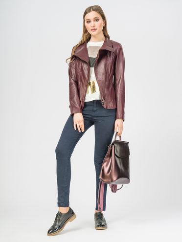 Кожаная куртка кожа , цвет бордо, арт. 04106268  - цена 11290 руб.  - магазин TOTOGROUP