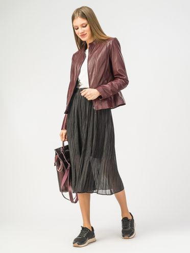 Кожаная куртка кожа , цвет бордо, арт. 04106276  - цена 11990 руб.  - магазин TOTOGROUP