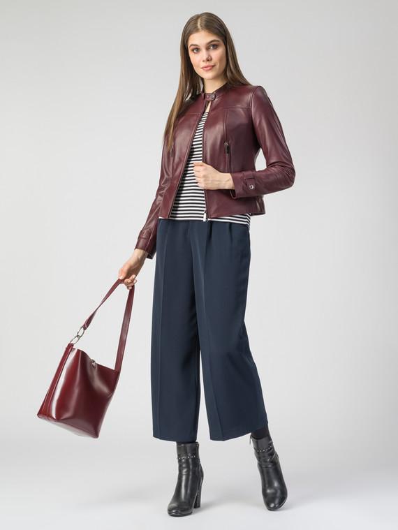 Кожаная куртка кожа , цвет бордо, арт. 04106321  - цена 8490 руб.  - магазин TOTOGROUP