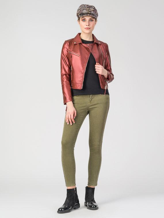 Кожаная куртка эко-кожа 100% П/А, цвет бордо, арт. 04107831  - цена 3790 руб.  - магазин TOTOGROUP