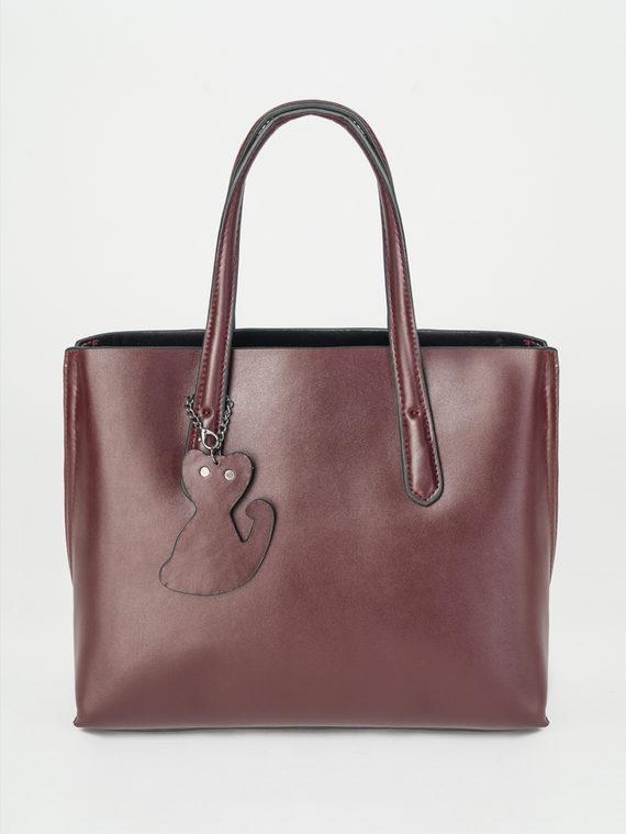 Сумка кожа теленок, цвет бордо, арт. 04107876  - цена 3990 руб.  - магазин TOTOGROUP