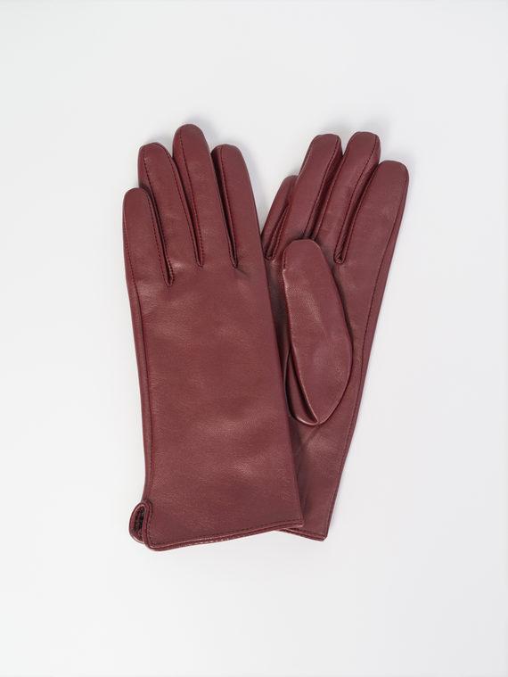 Перчатки кожа , цвет бордо, арт. 04107964  - цена 1570 руб.  - магазин TOTOGROUP