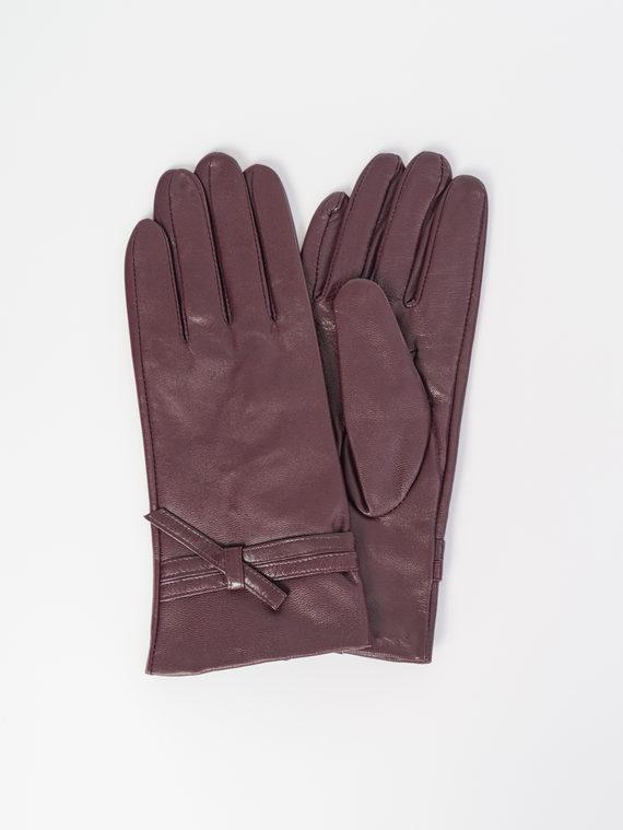 Перчатки кожа , цвет бордо, арт. 04107982  - цена 1330 руб.  - магазин TOTOGROUP