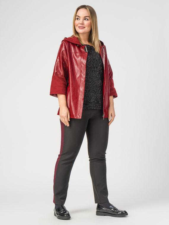 Кожаная куртка эко-кожа корова, цвет бордо, арт. 04108163  - цена 6630 руб.  - магазин TOTOGROUP