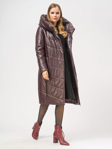 Кожаное пальто эко-кожа 100% П/А, цвет бордо, арт. 04109019  - цена 9990 руб.  - магазин TOTOGROUP