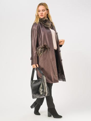 Кожаное пальто эко-кожа 100% П/А, цвет бордо, арт. 04109021  - цена 8490 руб.  - магазин TOTOGROUP