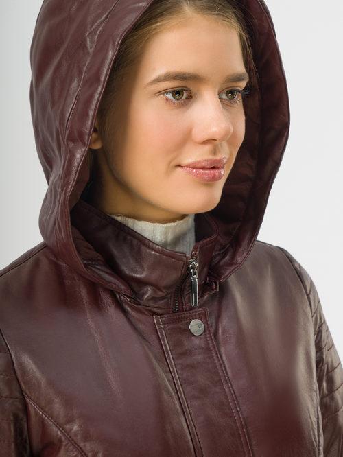 Кожаное пальто артикул 04109533/42 - фото 4