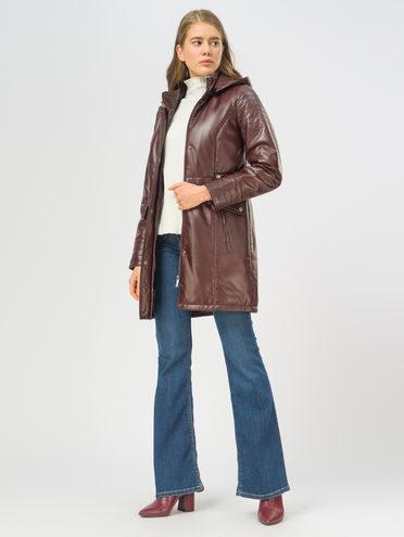 Кожаное пальто кожа, цвет бордо, арт. 04109533  - цена 11990 руб.  - магазин TOTOGROUP