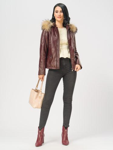 Кожаная куртка кожа , цвет бордо, арт. 04109535  - цена 17990 руб.  - магазин TOTOGROUP