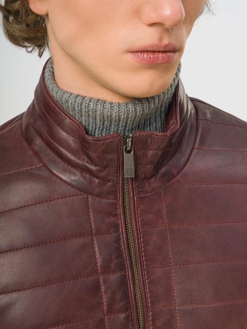 Кожаная куртка артикул 04109539/48 - фото 4
