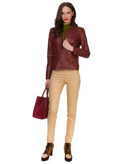 Кожаная куртка кожа овца, цвет бордо, арт. 04700046  - цена 11490 руб.  - магазин TOTOGROUP