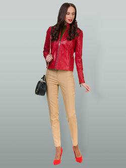 Кожаная куртка кожа овца, цвет бордо, арт. 04700048  - цена 14190 руб.  - магазин TOTOGROUP