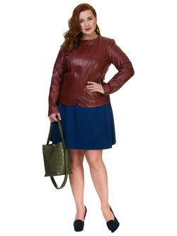 Кожаная куртка кожа овца, цвет бордо, арт. 04700105  - цена 13390 руб.  - магазин TOTOGROUP