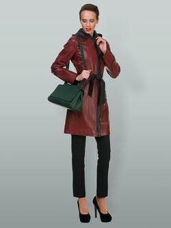 Кожаное пальто кожа овца, цвет бордо, арт. 04700112  - цена 16990 руб.  - магазин TOTOGROUP
