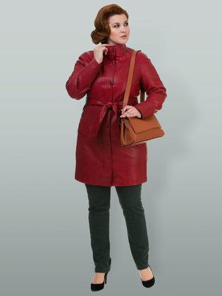 Кожаное пальто эко кожа 100% П/А, цвет бордо, арт. 04700119  - цена 8490 руб.  - магазин TOTOGROUP