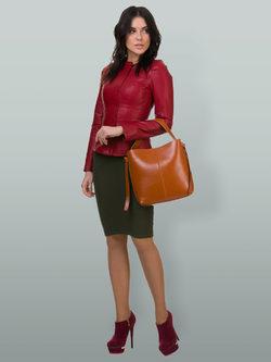 Кожаная куртка эко кожа 100% П/А, цвет бордо, арт. 04700129  - цена 6990 руб.  - магазин TOTOGROUP