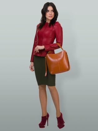 Кожаная куртка эко кожа 100% П/А, цвет бордо, арт. 04700129  - цена 7490 руб.  - магазин TOTOGROUP