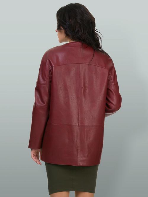 Кожаная куртка артикул 04700162/44 - фото 3