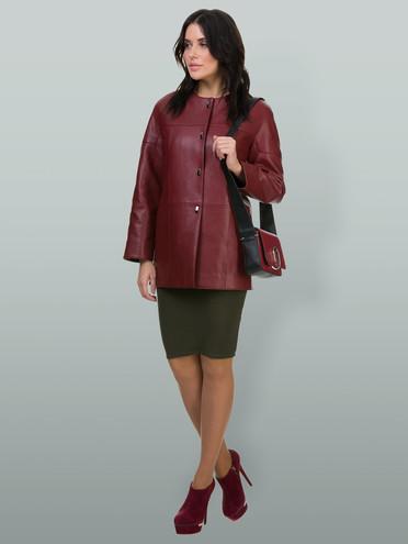 Кожаная куртка эко-кожа 100% П/А, цвет бордо, арт. 04700162  - цена 2990 руб.  - магазин TOTOGROUP