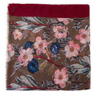 Шарф 30%бамбук,70%хлопок, цвет бордо, арт. 04700231  - цена 1090 руб.  - магазин TOTOGROUP