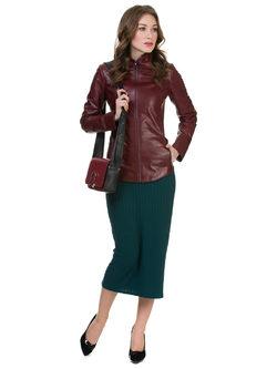 Кожаная куртка кожа овца, цвет бордо, арт. 04700521  - цена 15590 руб.  - магазин TOTOGROUP