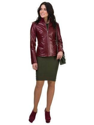 Кожаная куртка кожа овца, цвет бордо, арт. 04700522  - цена 14490 руб.  - магазин TOTOGROUP