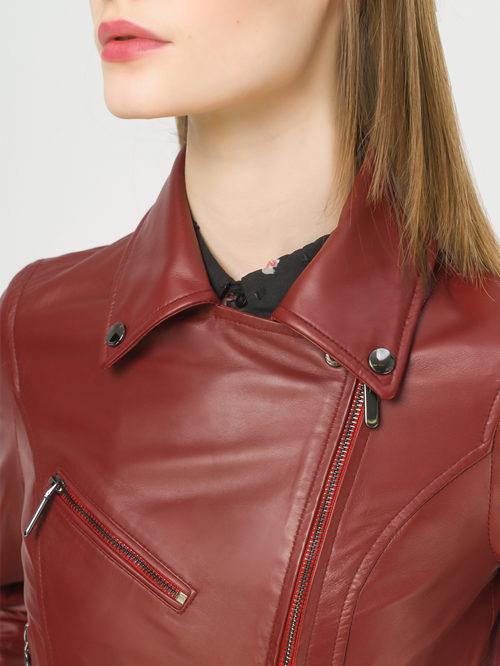 Кожаная куртка артикул 04802459/42 - фото 4