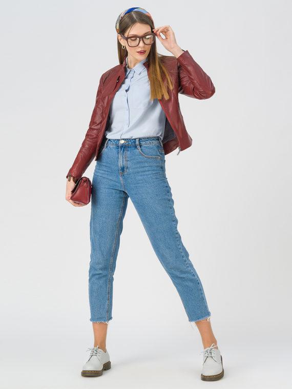 Кожаная куртка кожа, цвет бордо, арт. 04802462  - цена 7490 руб.  - магазин TOTOGROUP