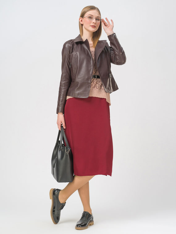 Кожаная куртка кожа, цвет бордо, арт. 04802470  - цена 7990 руб.  - магазин TOTOGROUP