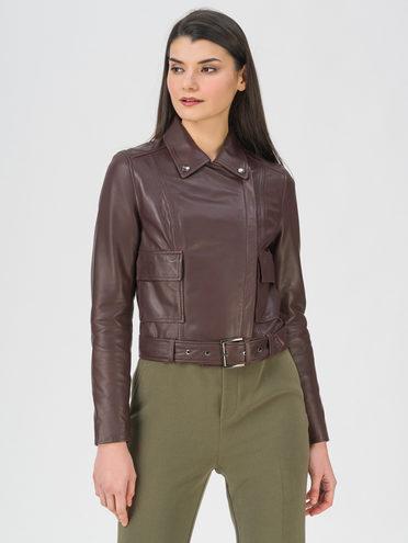 Кожаная куртка кожа, цвет бордо, арт. 04802471  - цена 11990 руб.  - магазин TOTOGROUP