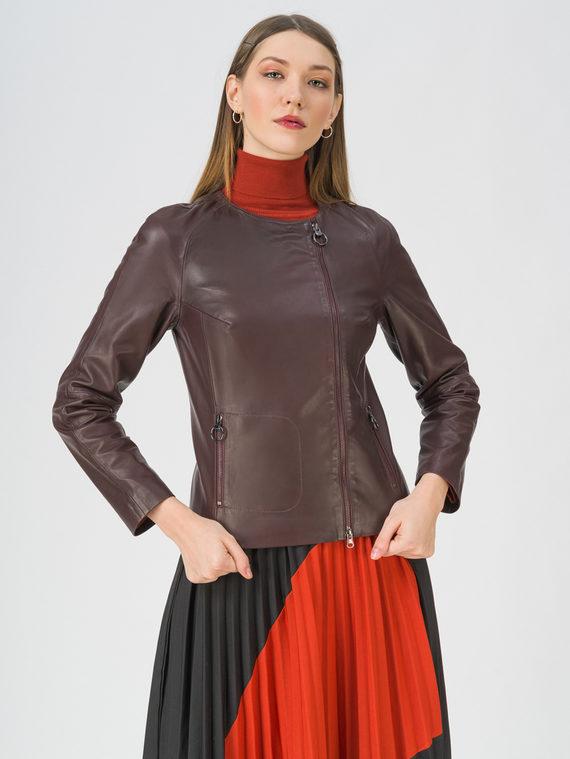 Кожаная куртка кожа, цвет бордо, арт. 04802472  - цена 8990 руб.  - магазин TOTOGROUP