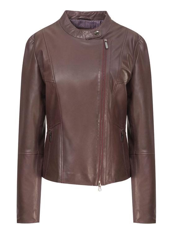 Кожаная куртка кожа, цвет бордо, арт. 04802473  - цена 9990 руб.  - магазин TOTOGROUP